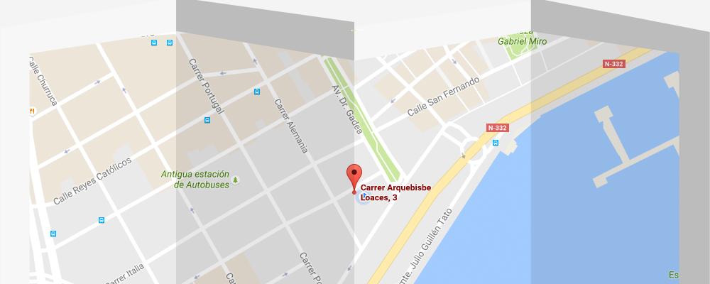 Mapa Alquiler de aulas en Alicante